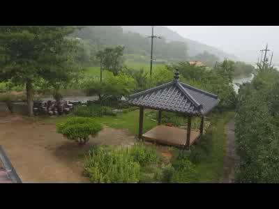 비오는 날 풍경