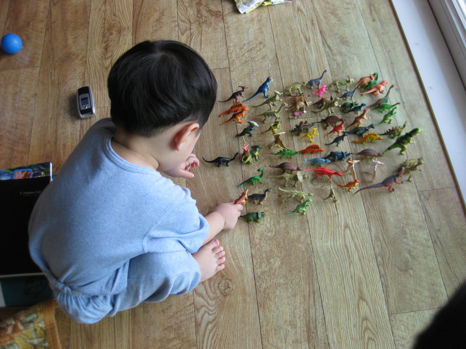 공룡들 줄 세우기